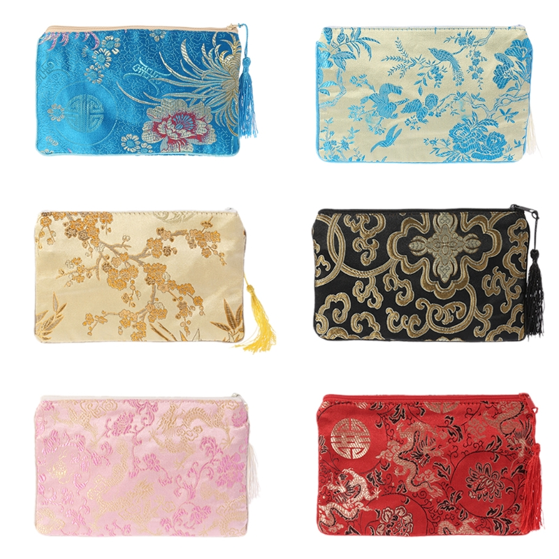 THINKTHENDO New Women Flower Tassel Phone Bag Card Holder Wallet Small Purse Pouch Gift For Girl 2018 Fashion Zip Handbags
