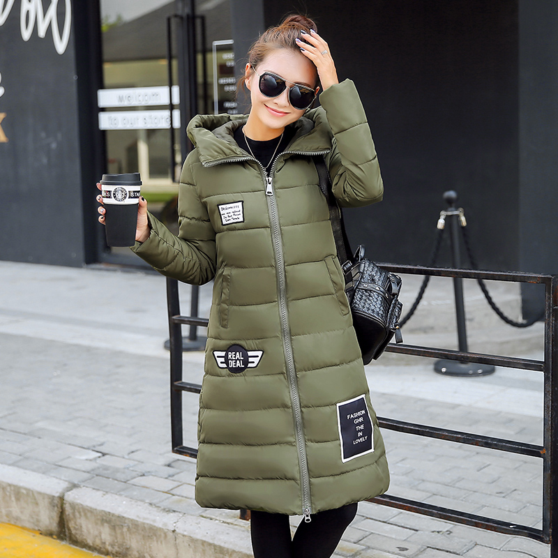 ФОТО The new winter long cotton-padded clothes women cultivate one's morality more bigger sizes  cotton-padded jacket dress