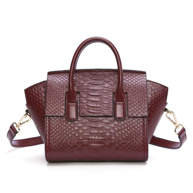 100% Cow Genuine Leather New Fashion Women Handbags Ladies Trapeze Shoulder Bags Female Girl Alligator Luxury Crossbody Bag  цена и фото