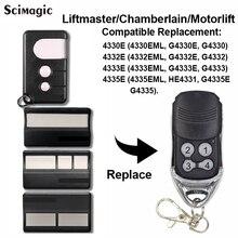 2 pièces Chamberlain Liftmaster 4410 4410E 4410E 4335E ML télécommande de remplacement, commande de garage Liftmaster 4335E porte clés 433.92mhz