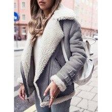 Зимние куртки Для женщин Свободные стекаются теплое толстое пальто Для женщин Повседневное замшевые женские парки бархат верхняя одежда из хлопка куртка-пилот
