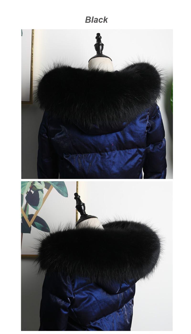 raccoon fur collar black color