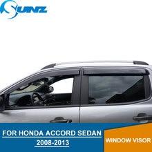 Car Door visor For HONDA ACCORD 2008-2013 Rain protector for 2008 2009 2010 2011 2012 2013 SEDAN accessories SUNZ