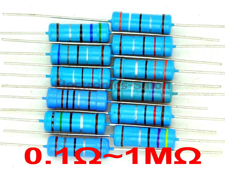5 Bands for DIY Electronic Projects and Experiments Axial Lead 300 resistori 470 Ohm 1//4 W 1/% Tolerance Metal Film Resistors