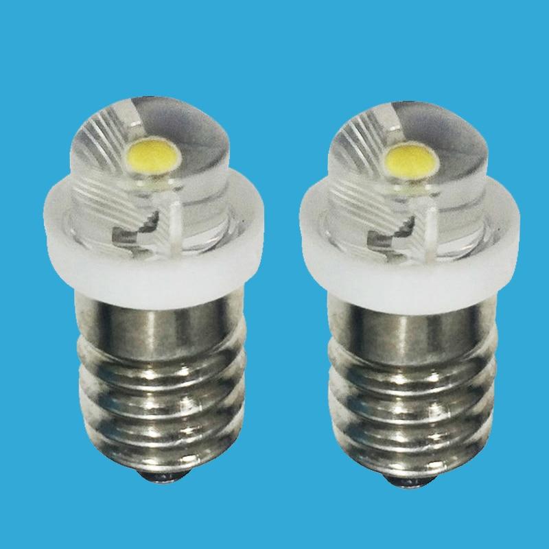 E10 P13.5S LED Bulb Focus Flashlight Torch Bulb Light Replacement Bulbs DC3V 3V 6V Bulb Lamp For Flashlight Torch Replacement