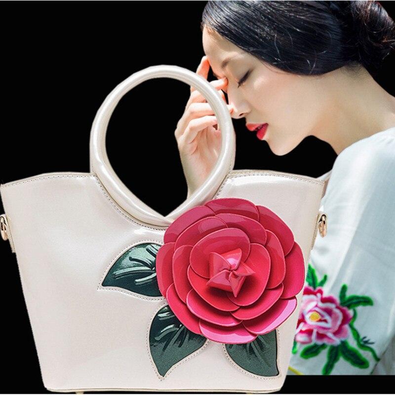 Hot 2017 Designer Women Top Patent Leather Handbag Luxury Elegant Famous Brand New Shoulder Casusal Tote CrossBody Messager Bag patent leather handbag shoulder bag for women