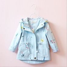 2019 New Spring Autumn Girls Windbreaker Coat Baby Kids Flow