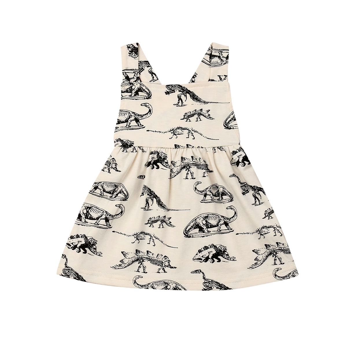 Frugal Pudcoco 2019 New Brand Cute Newborn Kid Baby Girls Cotton Sleeveless Dress Dinosaur Sundress Clothes A Plastic Case Is Compartmentalized For Safe Storage Girls' Clothing