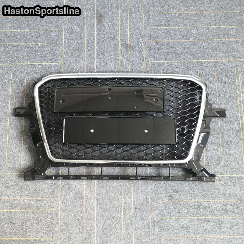 2012~2015 RSQ5 Style Chrome Frame Front Bumper mesh Honeycomb <font><b>Grill</b></font> Grille For <font><b>Audi</b></font> <font><b>Q5</b></font> <font><b>SQ5</b></font> RSQ5 image