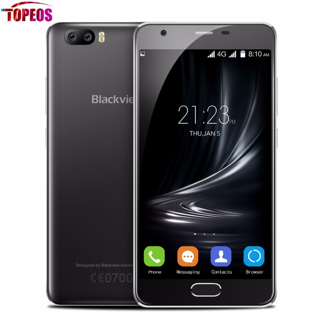 New 2017 Blackview A9 PRO Android 7.0 Dual Rear Camera Mobile Phone Quad Core MTK6737 2GB RAM 16GB ROM Fingerprint 720P Phone