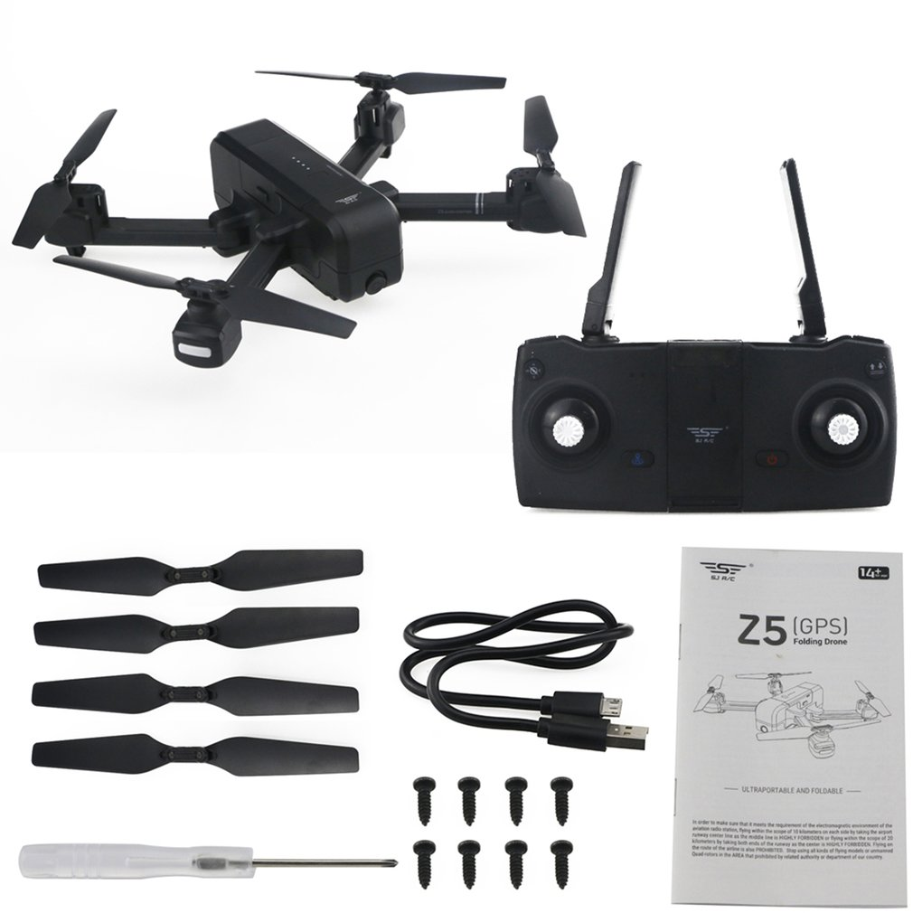 Z5 Dual GPS RC Drone Quadcopter with 1080P Wifi Wide Angle FPV Adjustable Camera Image Follow Me Gesture Selfie Tap FlightZ5 Dual GPS RC Drone Quadcopter with 1080P Wifi Wide Angle FPV Adjustable Camera Image Follow Me Gesture Selfie Tap Flight