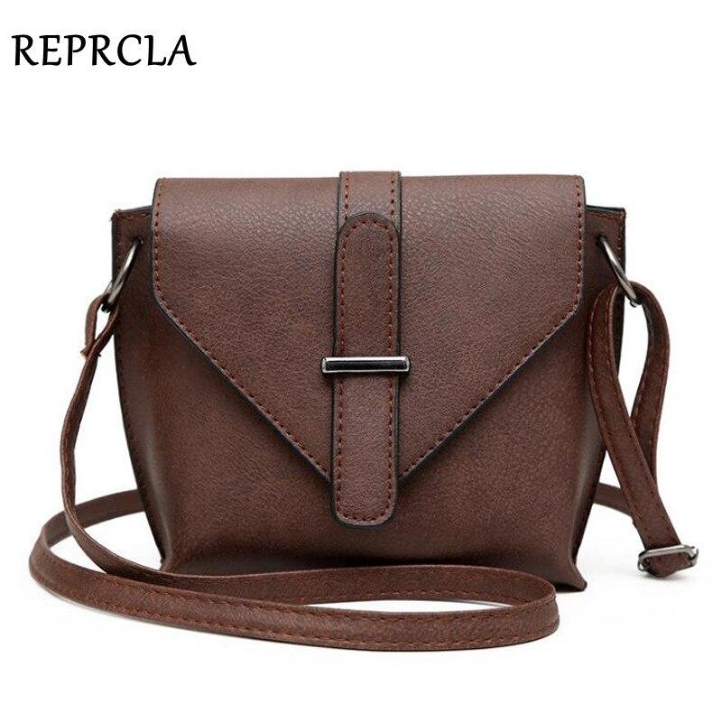 REPRCLA 2018 Модные Простые Crossbody сумки для Для женщин Сумка Высокое качество PU кожаная сумка маленький Для женщин Курьерские сумки