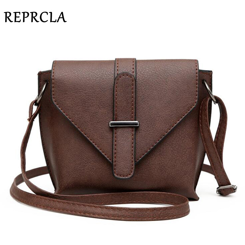 REPRCLA 2018 Fashion Simple Crossbody Bags for Women Shoulder Bag High Quality PU Leather Handbag Small Women Messenger Bags цена