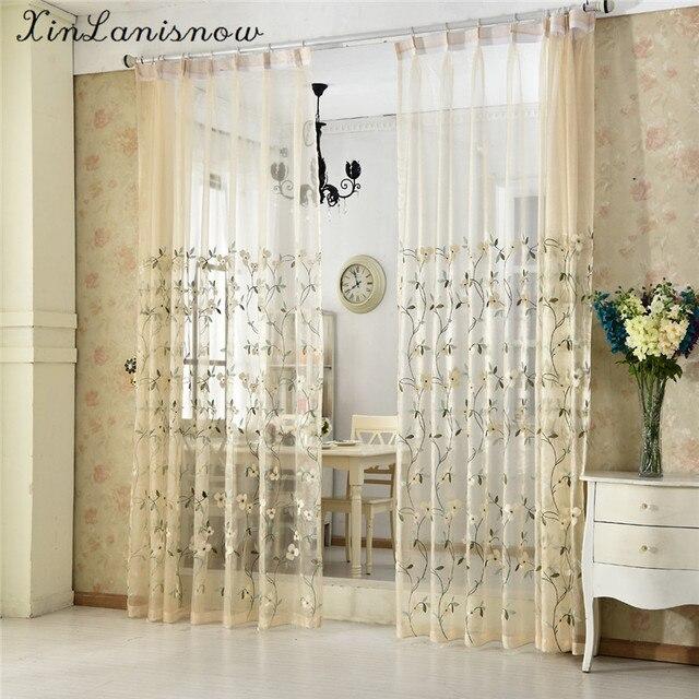 Ländlichen Stil Stickerei Amerikanischen Land Stil Schmetterling Orchidee  Vorhänge Für Wohnzimmer Esszimmer Schlafzimmer