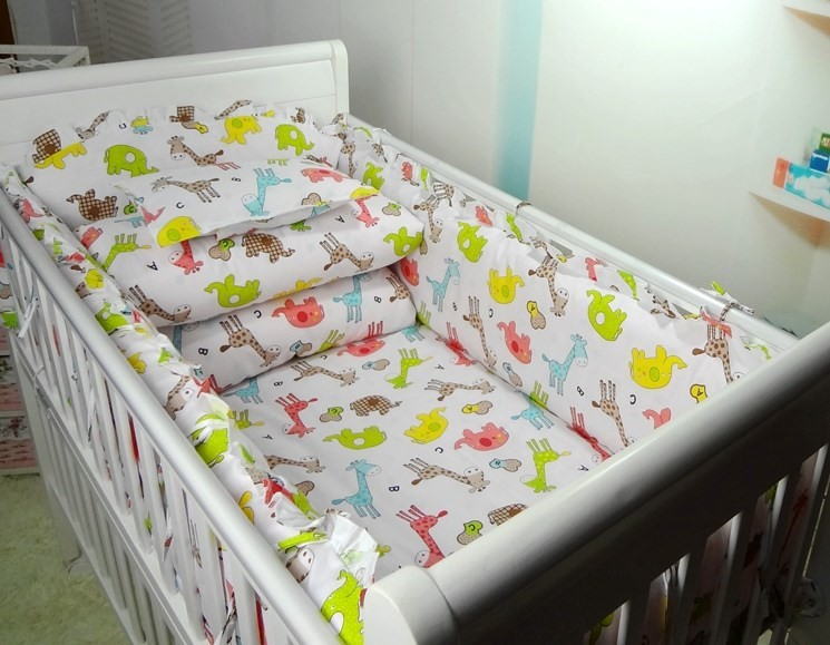 Promotion! 6PCS baby crib bedding set cribs for babies baby bedding ,include (bumpers+sheet+pillow cover) внешний аккумулятор power bank 18000 мач topon top t80 черный