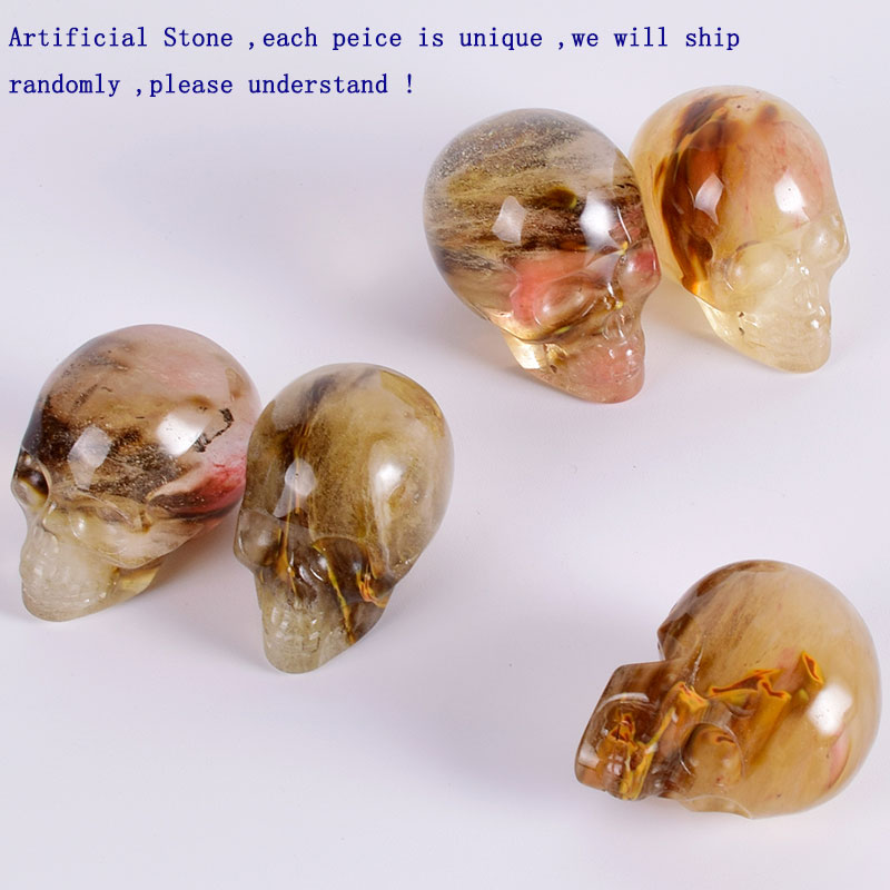2-Inch-Watermelon-Tourmaline-Manmade-Stone-Skull-Statue-Mineral-Crystal-Skull-Figurine-Hand-Carved-Feng-Shui