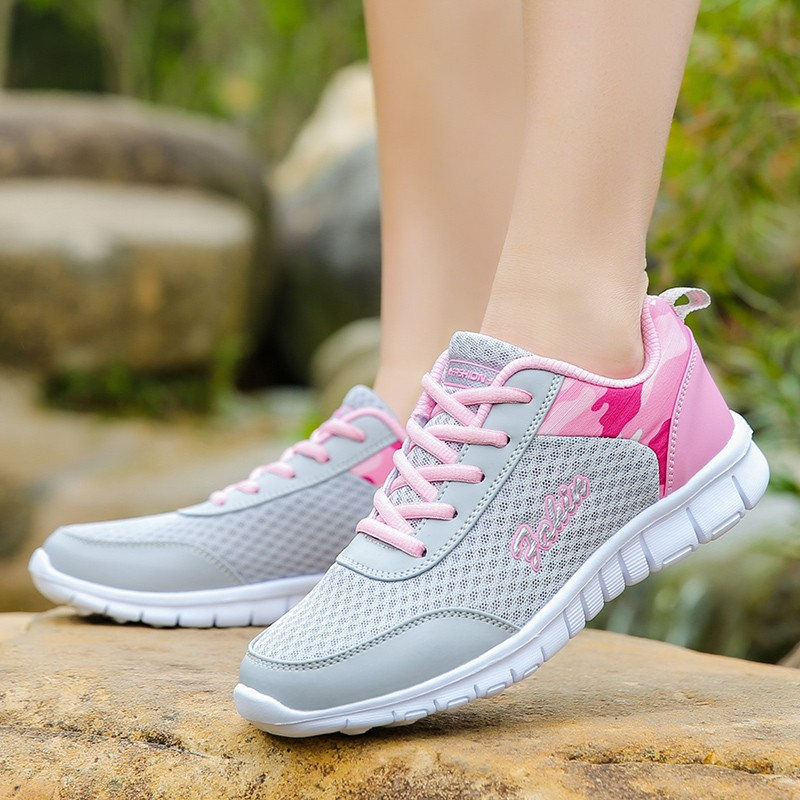 Woman casual shoes Breathable 2018 Spring Sneakers Women New Arrivals Fashion mesh sneakers shoes women