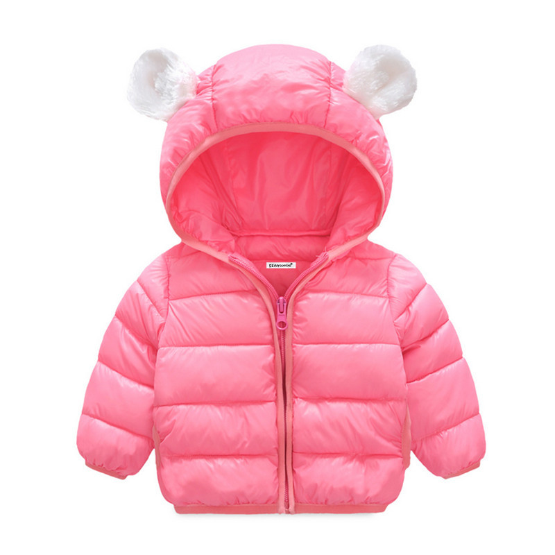 Children Kids Baby Jacket 2017 Autumn Winter Girl Princess Outerwear Baby Long Sleeve Coat Cotton-Padded Clothes