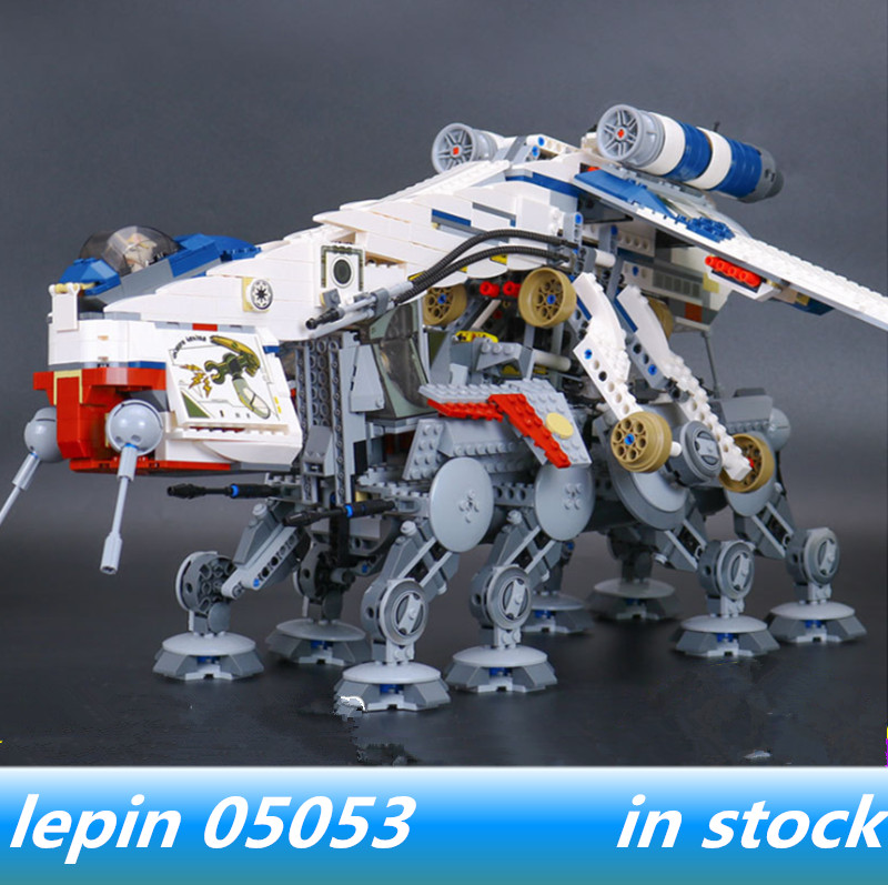 LEPIN 05053 lepin Star Wars Republic Dropship with AT-OT Walker Compatible legoed star wars 10195 Model Building blocks Bricks lepin 05053 1788pcs star series wars republic dropship with at ot walker building blocks bricks set compatible 10195 toys