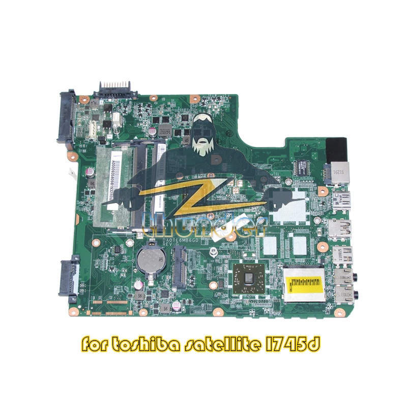 DA0TE6MB6G0 REV G A000093580 for Toshiba Satellite L745 L745D laptop motherboard EME450 CPU DDR3 a000093450 date5mb16a0 for toshiba l745 l740 laptop motherboard ddr3 free shipping 100