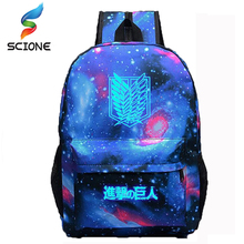 2017 Hot Selling Attack on Titan Backpack Japan Anime Printing School Bag for Teenagers Cartoon Travel Bag Nylon Free Shipping