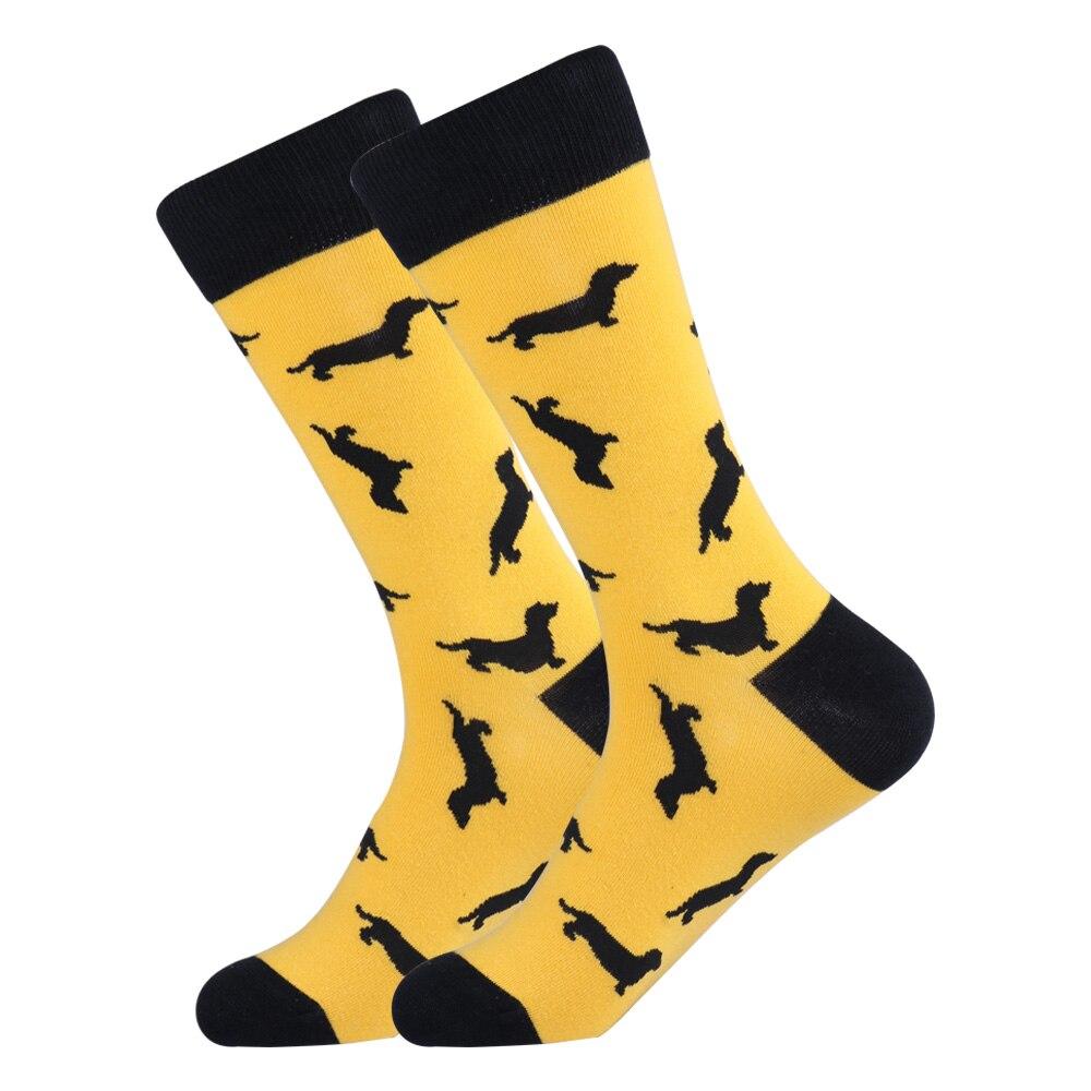 Funky Men Dachshund Dog Long Socks Novelty Funny Cute Puppy Cotton Unisex Sock