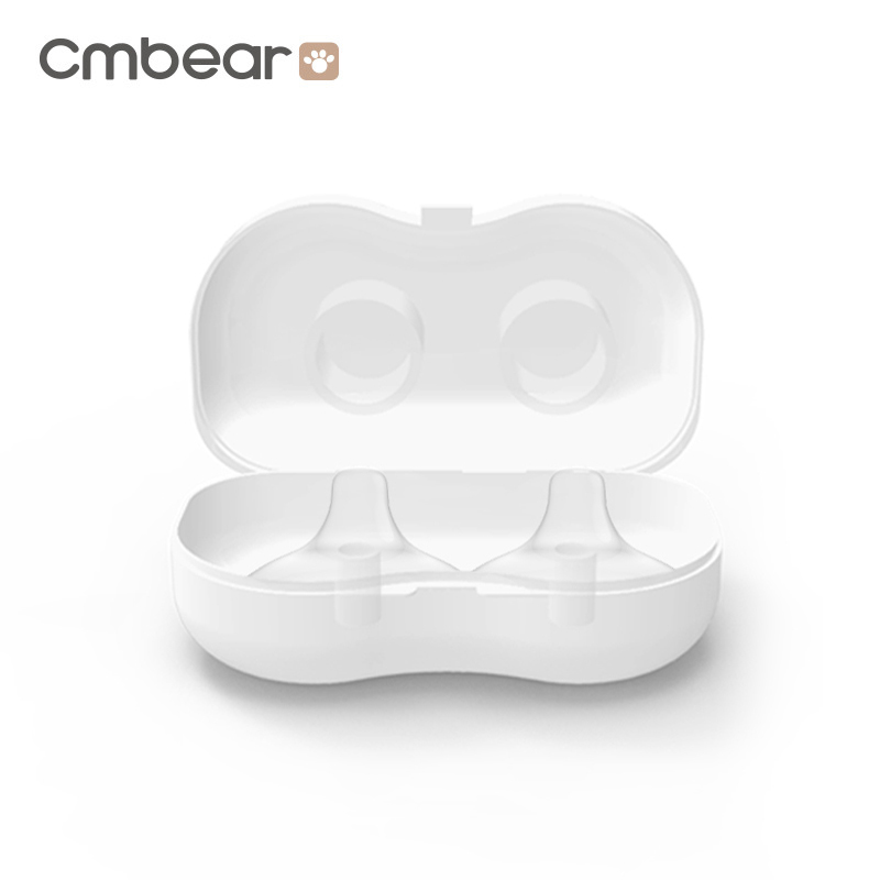 CMbear High quality Manual Or Electric Breast Pump Accessories 2 PCS/Lot Silicone Nipple Protective cover