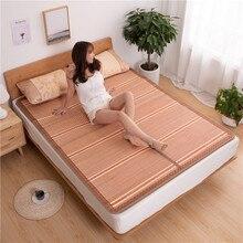 Tapis de bambou 100 naturel, tapis de bambou 0.9 naturel, pour lété, cela vous donne une sensation de fraîcheur, tapis pliant, 1.2/1.5/1.8 /2 m