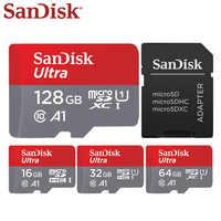 Sandisk 128 gb tf cartão 64 gb 16 gb micro cartão 32 gb cartão flash micro sd UHS-I cartão mini adaptador de presente do computador