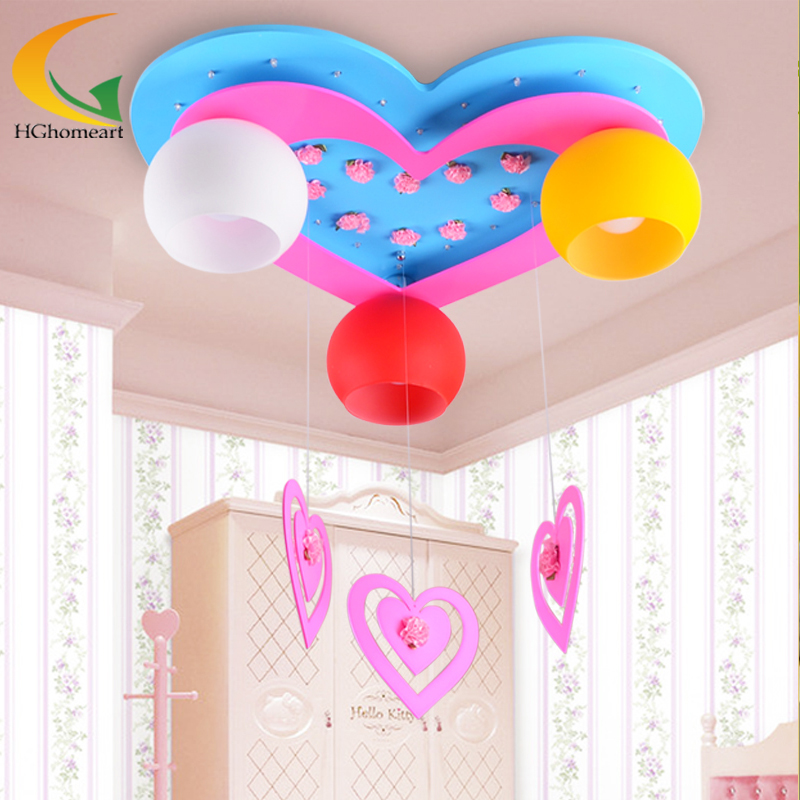 ceiling LED lights decorated childrens room lamp cartoon children room creative LED ceiling lamps girl bedroom lamps