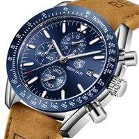 Benyar 2018 novos homens relógio de negócios aço completo quartzo topo marca luxo casual à prova dwaterproof água esportes masculino relógio pulso relogio masculino Relógios de quartzo    -