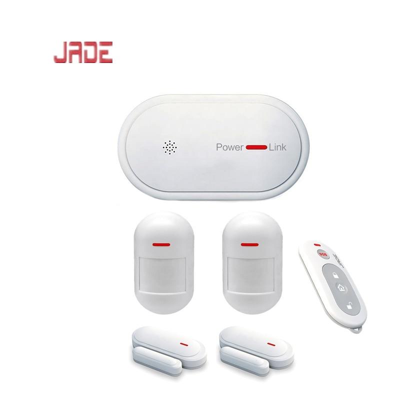 JADE Burglar Alarm System Motion Detector Wifi Door Alarm System GSM Dual Network Wireless Home Security with Smart APP Control т ю дроздова english grammar prepositions