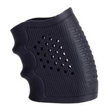 Juego de empuñadura de goma de pistola táctica antideslizante accesorios de caza juego de protección militar negra con mango de pistola