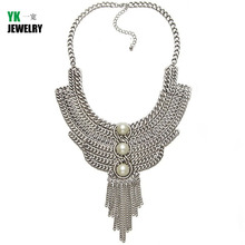 Fashion Vintage Maxi Necklace Collar Bib Gypsy Statement Necklaces pendants women holiday Jewelry