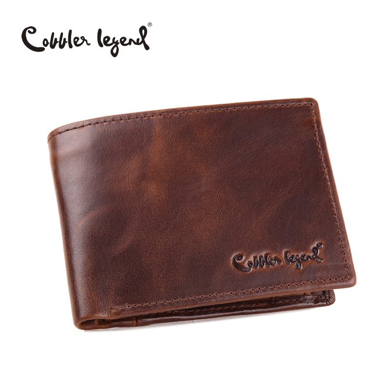 Cobbler Legend Famous Brand Genuine Leather Men Wallets Handmade Men's Wallet Male Money Purses Coins Wallet With ID Card Holder