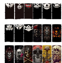 Pirate Skull Bandana Biker Hip Hop Hijab Multifunctional หลากหลาย Turban Hood Magic Headband Veil หัวหน้า Mes(China)
