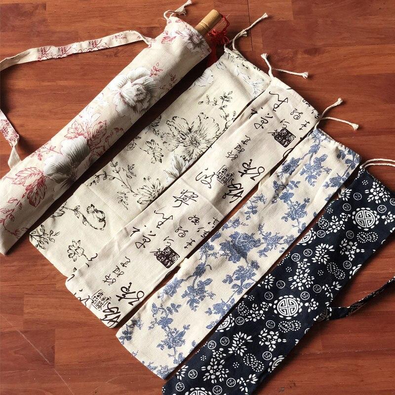 Oil Paper Umbrella Bag Blue And White Umbrella Cover Props Portable Cloth Bag Straight Umbrella Bag For 84cm 100cm Diameter
