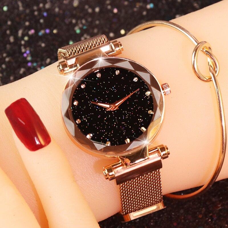 Montres femmes magnétique ciel étoilé montre femme montre de luxe diamant montres Bracelet horloge femmes Bracelet relogio feminino saat