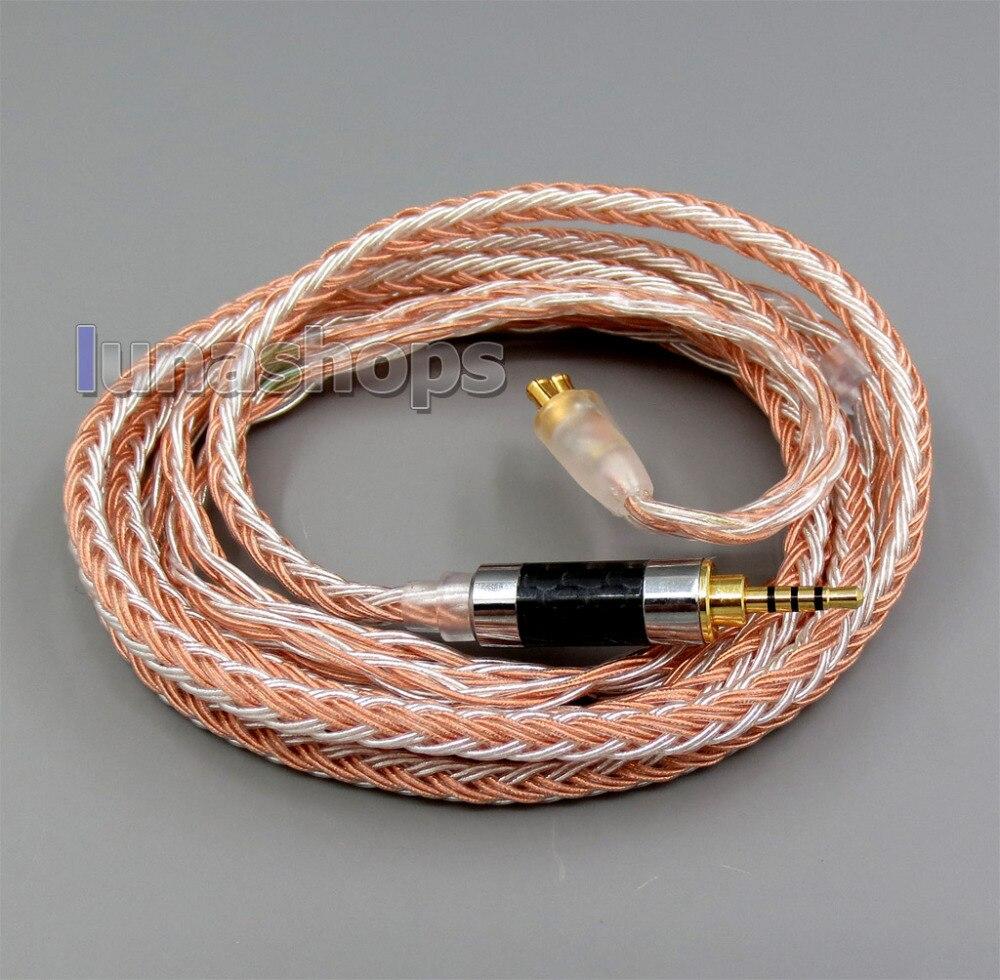 2.5mm 4pole TRRS Balanced 16 Core OCC Silver Mixed Headphone Cable For ATH-CKS1100 E40 E50 ATH-E70 LN005838 800 wires soft silver occ alloy teflo aft earphone cable for ultimate ears ue tf10 sf3 sf5 5eb 5pro triplefi 15vm ln005407
