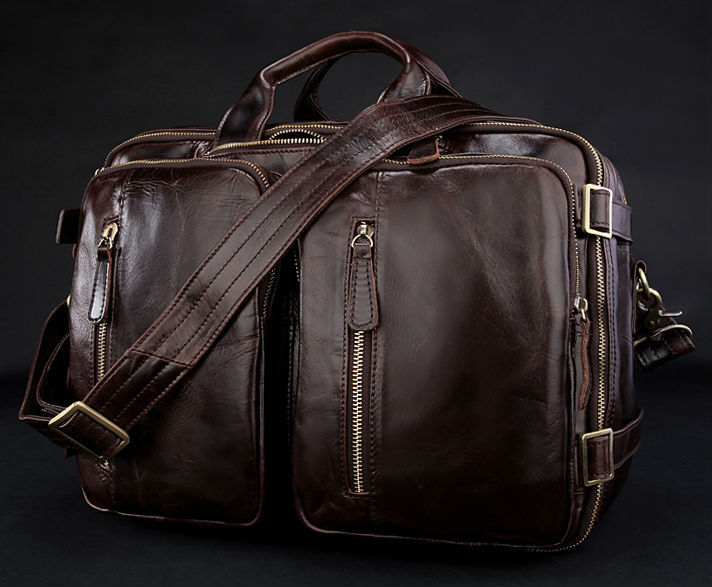 High Class 100% Genuine Leather Backpack Men Travel backpack real Leather School bag weekend bag Overnight New 2016 M039#