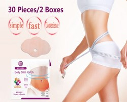 KONGDY 30 Pieces = 2 Boxes Weight Loss Slimming Patch Burning Fat Natural Ingredients Navel Sticker Women/Men Health Care Pads