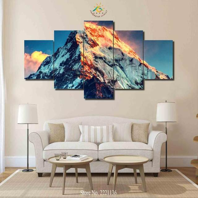 Online Shop 3 4 5 Pieces Mount Everest Pictures Modern Home Decor Canvas  Pictures Print On Canvas Wall Art HD Painting Modern Wall Pictures |  Aliexpress ...
