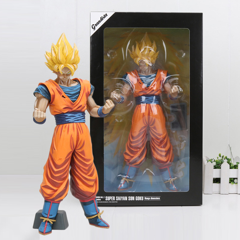 31cm Anime Dragon Ball Z Super Saiyan Son Goku manga dimension Grandista PVC Action Figure Collection Model Dolls Toys штатив unlim un 3206