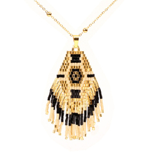 Bohemia Enthic Handmade Beads Tassel Necklace Women Miyuki Glass Beads Weave Pattern Fashion Necklaces & Pendants Female Jewelry laboratory balance scale 50g 0 001g high precision jewelry diamond gem lcd digital electronic scale counting function portable