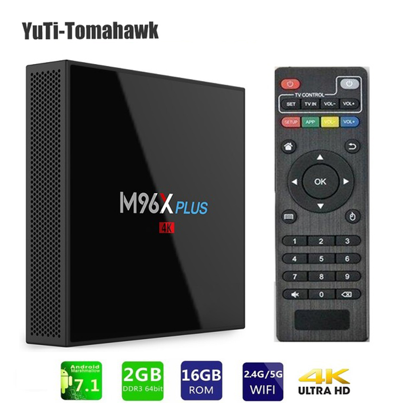 M96X PLUS TV Box Android7.1 S912 64 Bit Octa Core 2GB 16GB 2.4G+5G Wifi BT4.0 LAN1000M 4K Set-top Boxes Media Player MINI PC