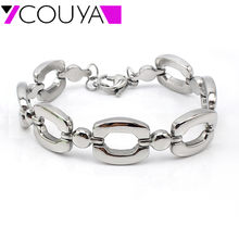 2017 Hot Sale Elegant Classic Stainless Steel Silver Friendship Bracelets Gourmettes Bijoux European Style Bracelets for Women(China)