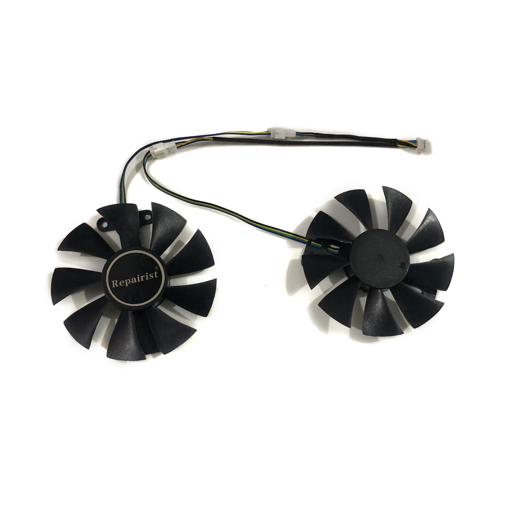 2pcs/set RX580 GPU Graphics cooler VGA fan For Radeon PowerColor Red Dragon <font><b>RX</b></font> <font><b>580</b></font> 4GB <font><b>GDDR5</b></font> AXRX-<font><b>580</b></font> Video Cards Cooling image