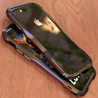 Luphie Dual Color 3D Metal Bumper Cover For Apple Iphone 8 8 Cases Luxury Aluminum Frame