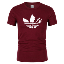 Cotton casual LOGO printing men's T-shirt top fashion short-sleeved men's T-shirt men's Tshirt shirt men's T shirt 2019(China)