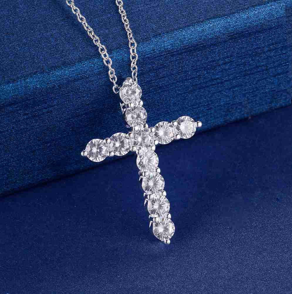 Collar de plata chapado joyería de las mujeres de moda de boda Cruz - Bisutería - foto 3